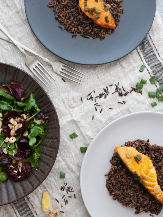 Losos u tamarindu i medu s divljom rižom