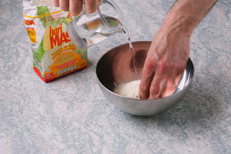 Izrada meksičkih tortilja i tacosa kod kuće - korak 2