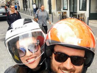 Lisabon, vožnja skuterom
