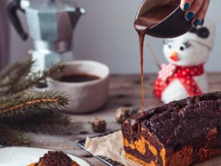 Mramorni kolač od tikve s karamelom