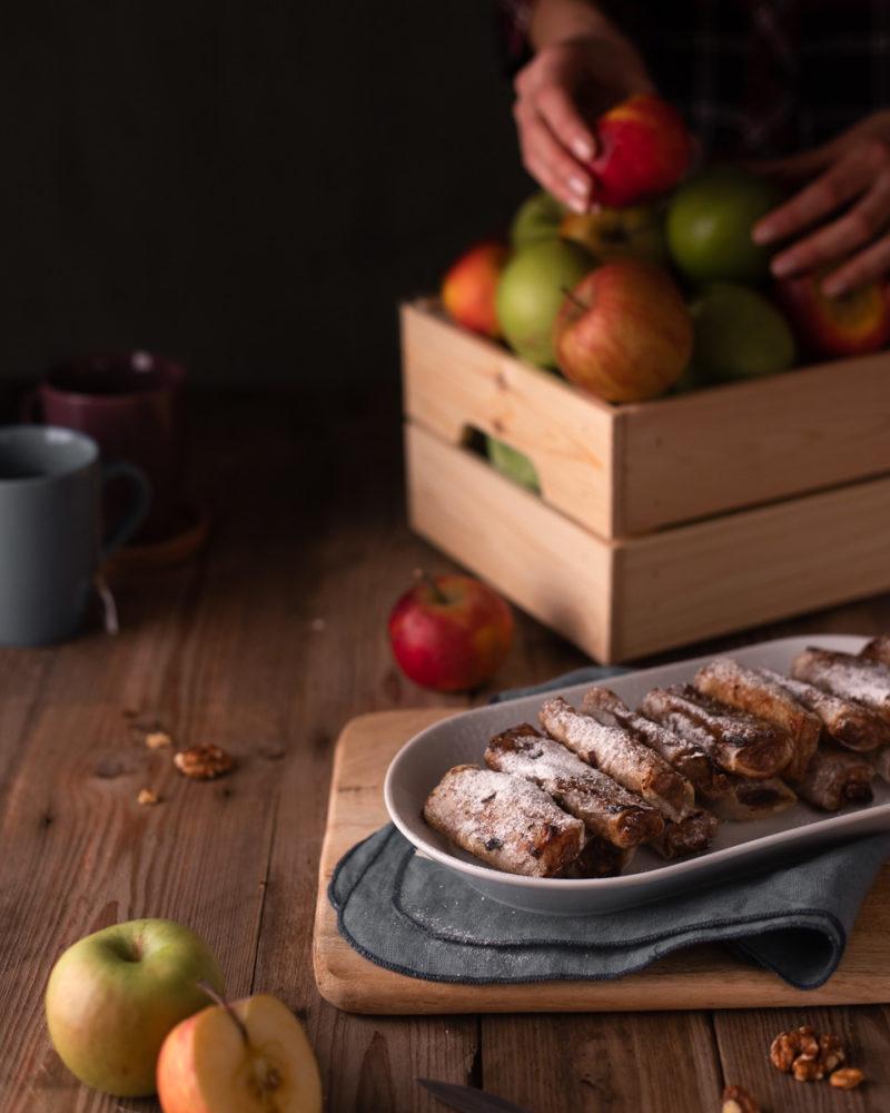 Štrudl od jabuke u rižinom papiru