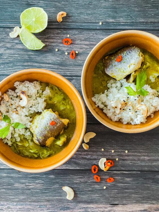 Zeleni curry s oslićem | Gladusa.com