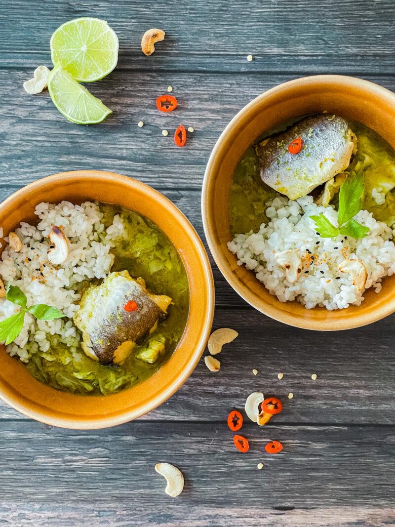 Zeleni curry s oslićem   Gladusa.com